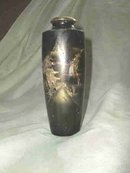 Vintage Mixed Metal Oriental Vase **Signed