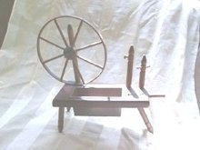 Vintage Wooden Spinning Wheel Planter