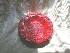 Large Vintage Red Ceramic Dish