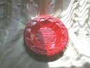 Large Vintage Red Ceramic Dish