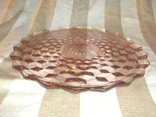 Vintage Pink Depression Glass Platter
