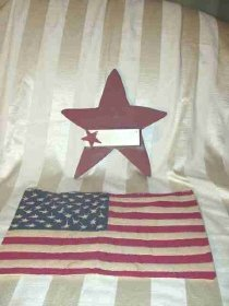 Americana Star Shelf & Flag Wall Art