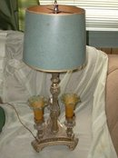 Vintage Gilded Table Lamp