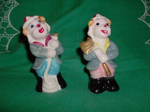 Vintage Clown Salt & Pepper Shakers (JAPAN)