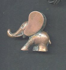 Copper Elephant Paperweight