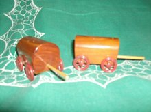 Vintage Will Rogers Covered Wagon Salt & Pepper Shakers