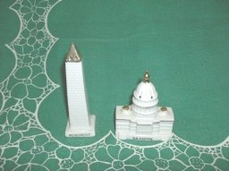Vintage Washington Monument Salt & Pepper Shakers