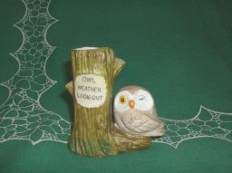 Vintage Owl Rain Gage