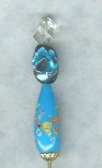 Vintage Glass Bead Hat Pin