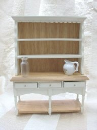Doll House Furniture Dining Room Set  w/Bakers Rack & Accessories