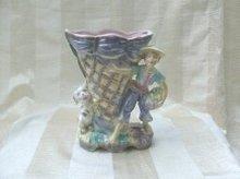 Vintage Irredescent Figural Vase