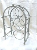 Art  Deco Silver 5 Bottle Wine Rack