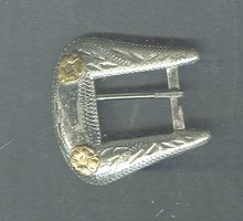 Solid Nickel Silver Western Belt Buckle