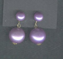 Vintage Purple Drop Earrings