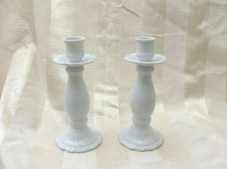 Pair of Vintage  Porcelain Candleholders