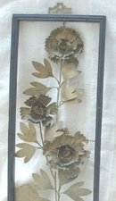 Vintage Metal Wall Art  **Pair**