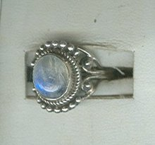 Sterling Silver & Natural Stone Ring