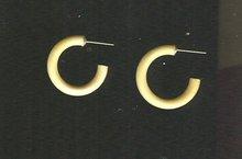 Vintage Genuine Ivory Hoop Earrings