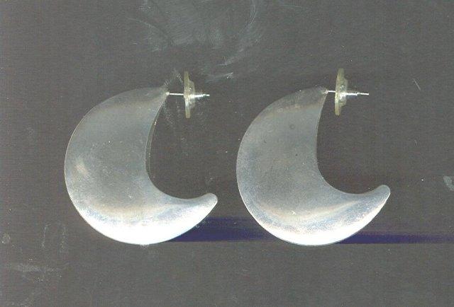 Silver Disc Shape Post Earrings