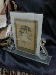 Vintage  Art Deco Lucite Picture Frame