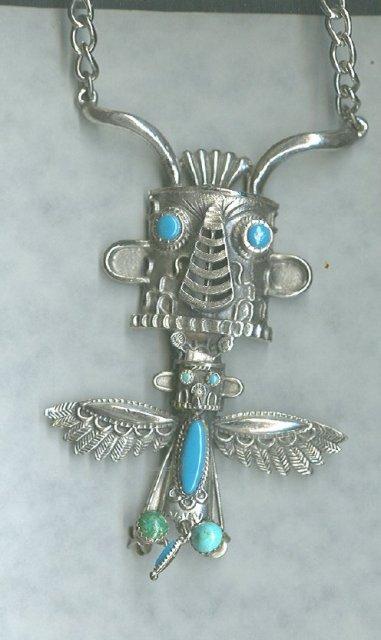 Vintage Totem Pole Figural Necklace