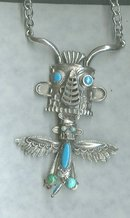 Vintage Totem Pole Figural Necklace