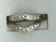 Vintage Sterling Silver Art Deco Ring  **Hallmarked**