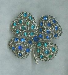 Vintage  Stylized 4 Leaf Clover Pin
