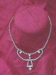 Vintage  Small Bib Rhinestone Necklace