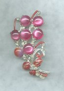 Vintage  Pot Metal & Pink Brooch &/or Pin