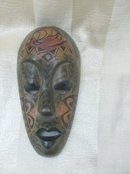Small Handpainted Wooden Mask