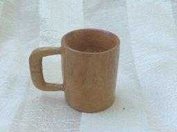Hand Carved  Wooden Mug