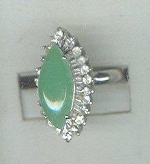 Vintage Marquis Jadeite Ring