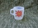 Vintage Fire King Flower Mug