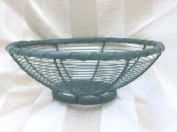 Vintage Round  Metal  Basket