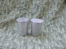 Vintage Aluminum  Juice Tumblers