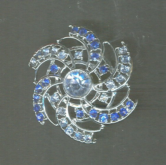Vintage Rhodium Plated Pin