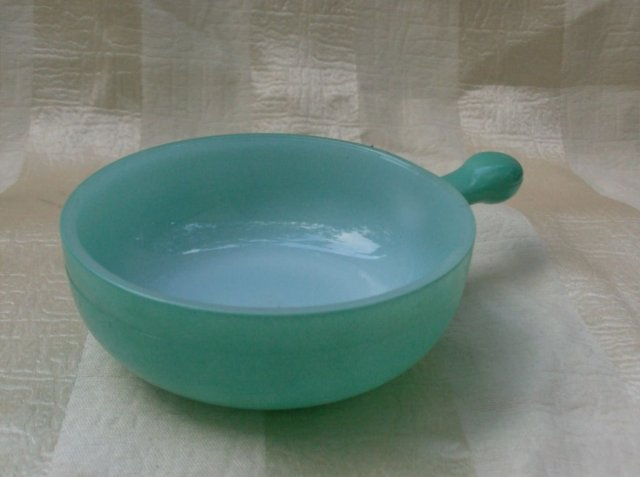 Vintage Aqua Glass Bake Bowl