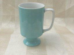 Vintage Aqua Pedestal Cup