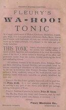 1884  Fleury's WA-HOO! Tonic Advertising   Ad