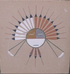 Native American Sand Stone Artwork
