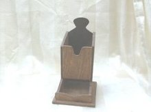 Vintage Wooden Match Holder