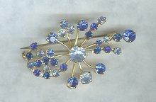 Vintage Austrian Blue Rhinestone Pin