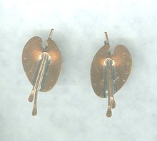 Vintage Renoir Copper Earrings