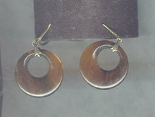 Vintage Imitation Tortoise Shell Hoop Earrings