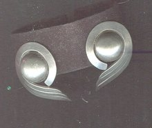 Vintage Sterling Stylized Wing Earrings