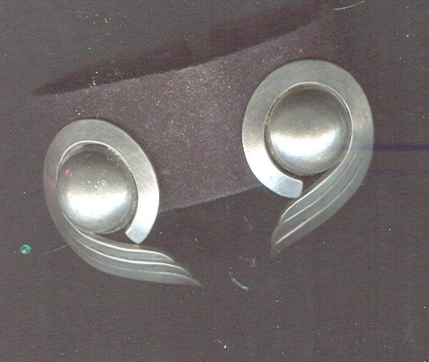 Vintage Sterling Stylized Wing Earrings