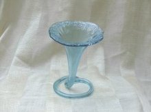 Vintage Blue Glass Jack in the Pulpit Vase