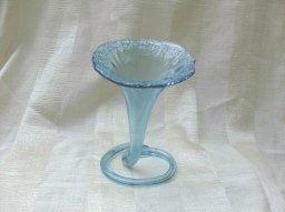 Vintage Blue Glass Jack in the Pulpit Vase