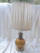 Vintage Glass & Cherub Table Lamp